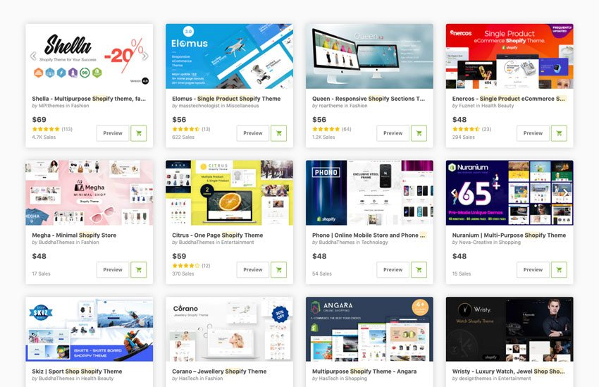 Single product Shopify themes on ThemeForest