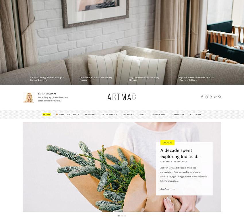 Artmag  Clean WordPress Blog and Magazine Theme