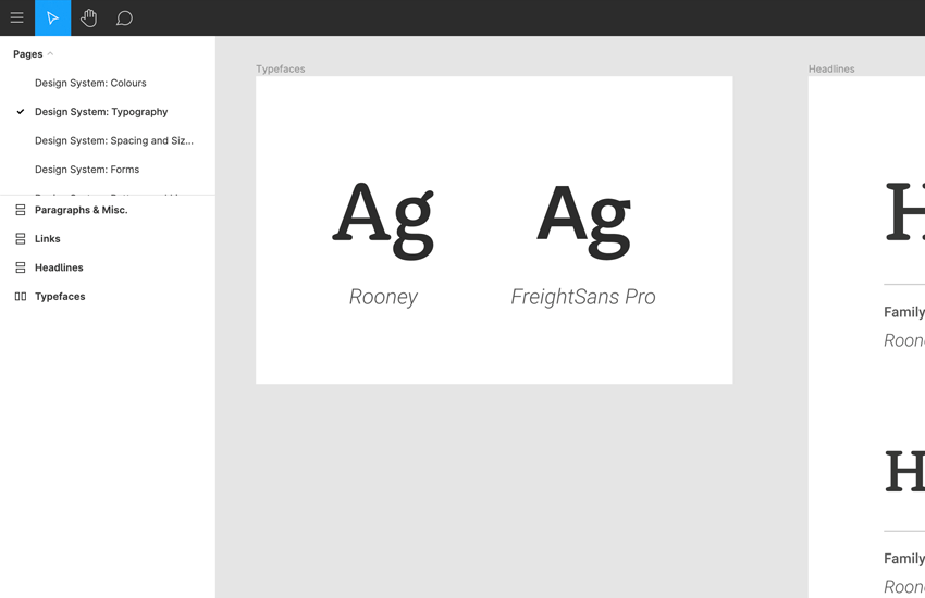 typography in figma design system