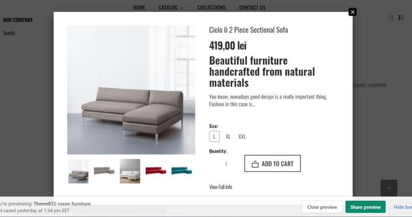 shopify quick view popup