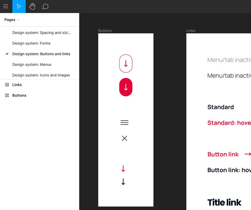 buttons in figma design system