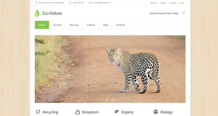 Eco Nature – Environment & Ecology WordPress Theme