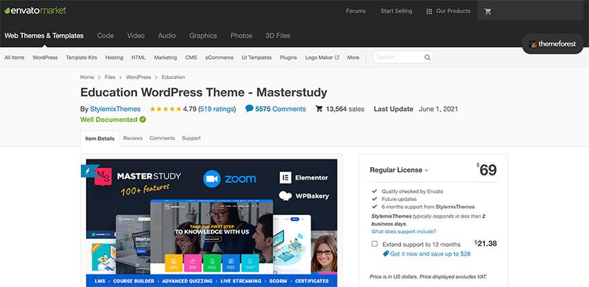 masterstudy wordpress theme