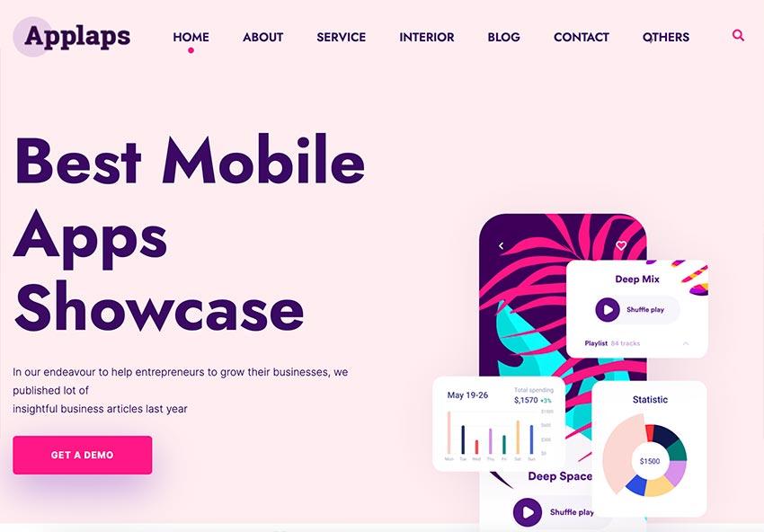 Applaps –App Software HubSpot theme