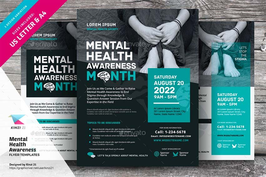 Mental Health Awareness Flyer Templates