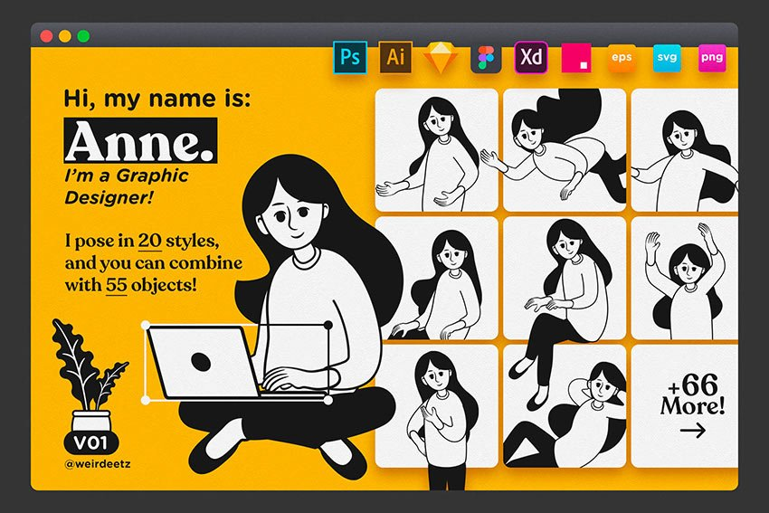 Character Set V01 Anne