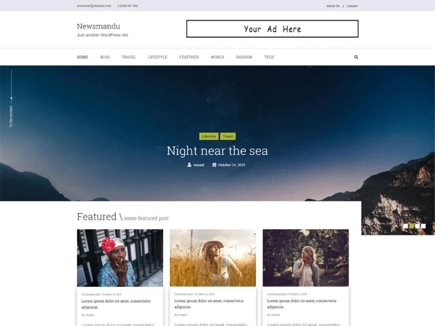 Newsmandu Magazine Free WordPress News Theme