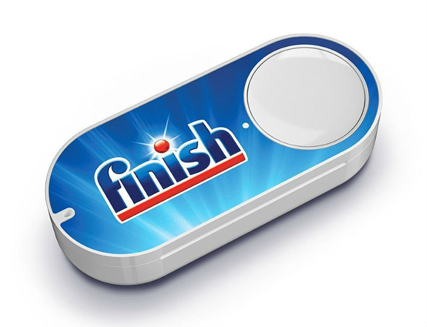 An Amazon Dash button for Finish dishwasher products