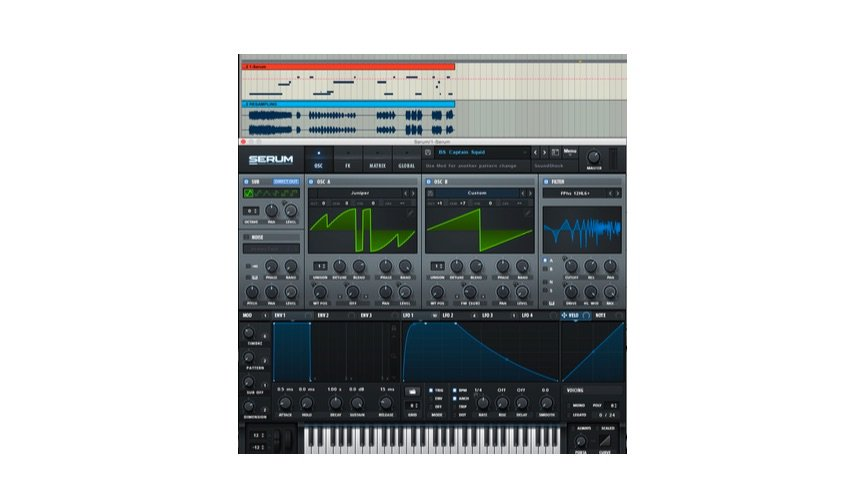 I used a Bass House preset from SoundShock to resample out my parameter tweaking