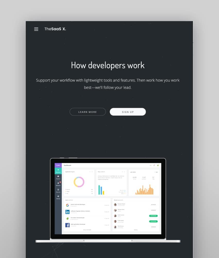 TheSaaS X—Responsive SaaS, Startup and Business WordPress Theme