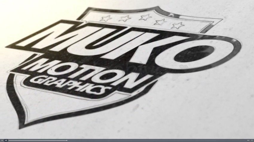 Draw and Ink Logo Reveal