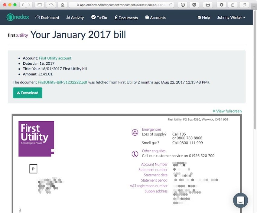 Click on a bar in the bar graph for a preview of that bill and ability to download the PDF of that bill