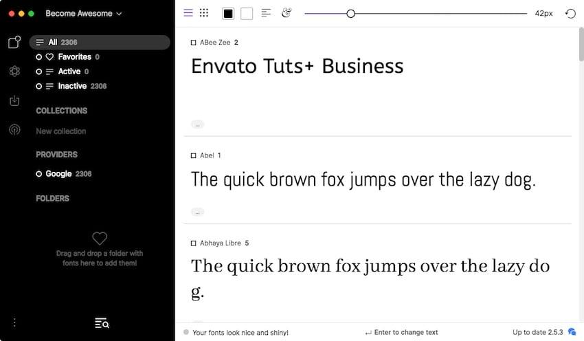 FontBase font application on macOS