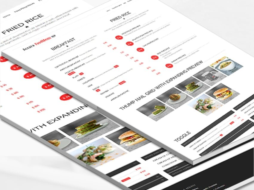 Accura FoodMenu WP—Modern Restaurant Food Menu