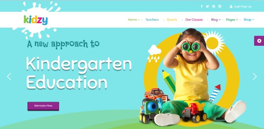 KIDZY - Responsive Kindergarten  Preschool WordPress Theme