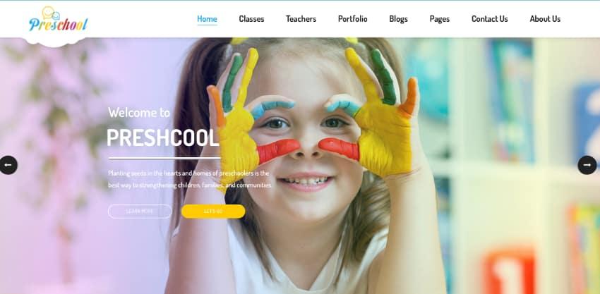 Preschool - Nurseries Kindergarten WordPress Theme
