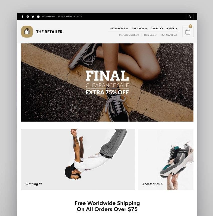 The Retailer—eCommerce WordPress Theme for WooCommerce