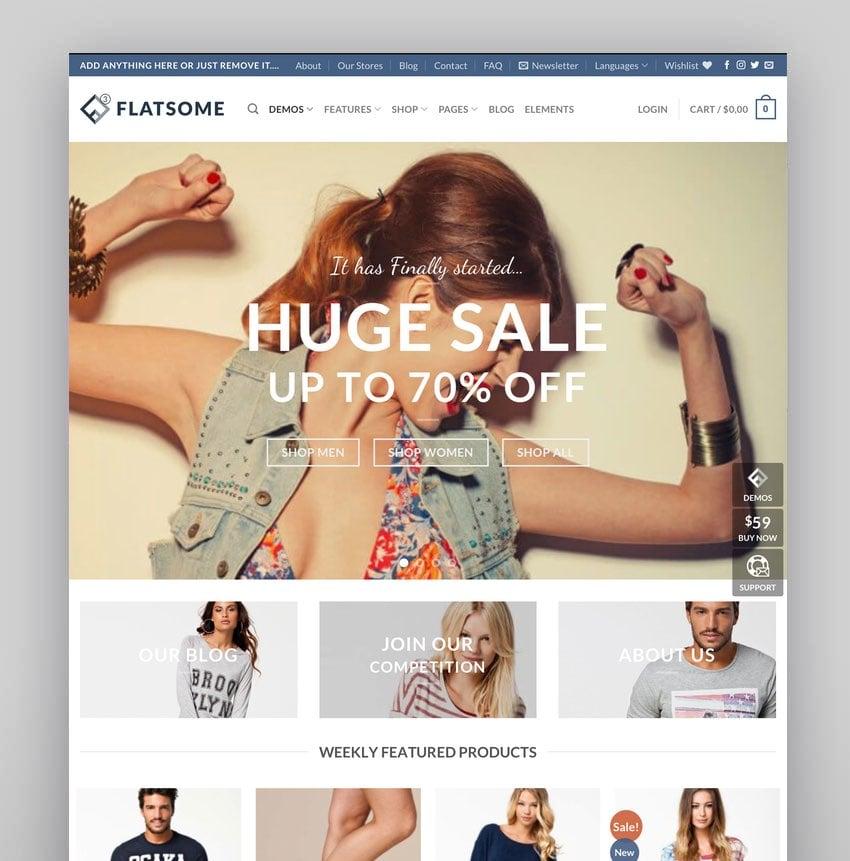 Flatsome—Multi-Purpose Responsive WooCommerce Theme