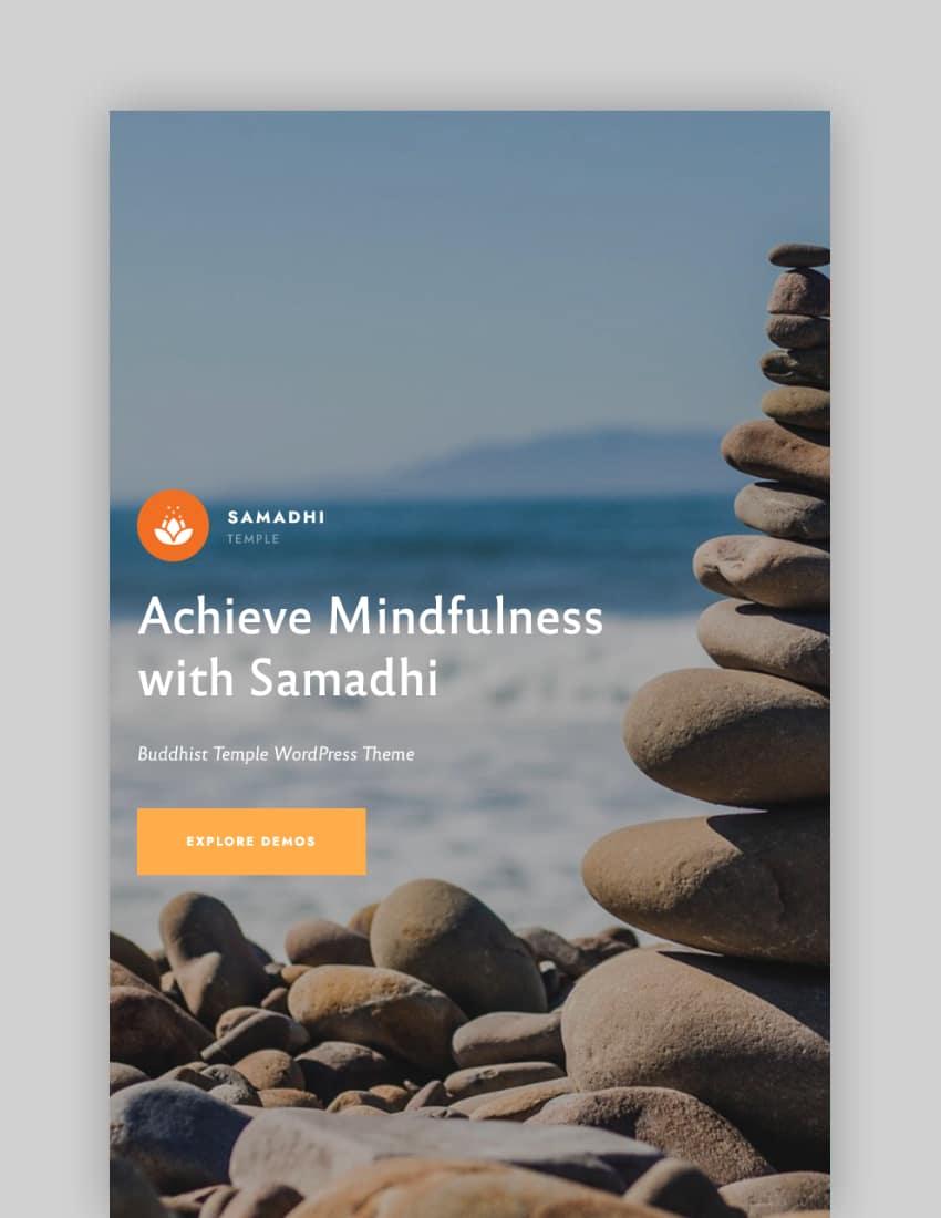 Samadhi—Oriental Buddhist Temple WordPress Theme