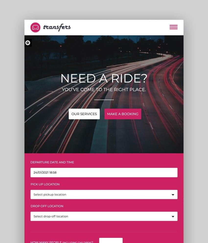 Transfers—Transport and Car Hire WordPress Theme