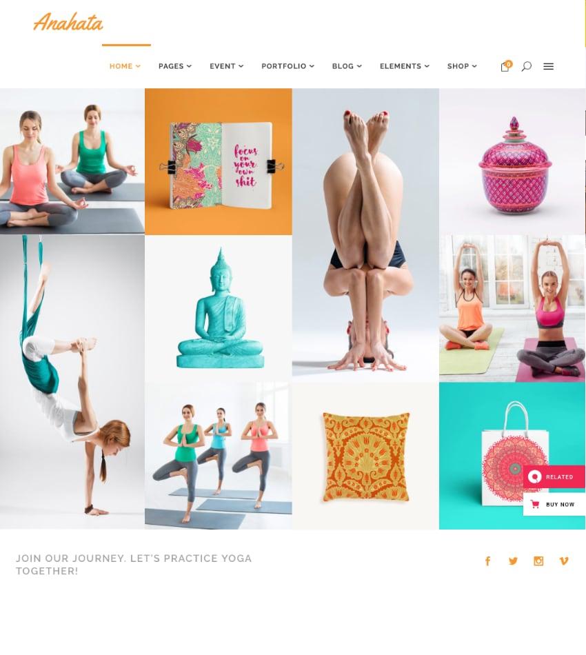 Anahata—Yoga, Fitness and Lifestyle Theme