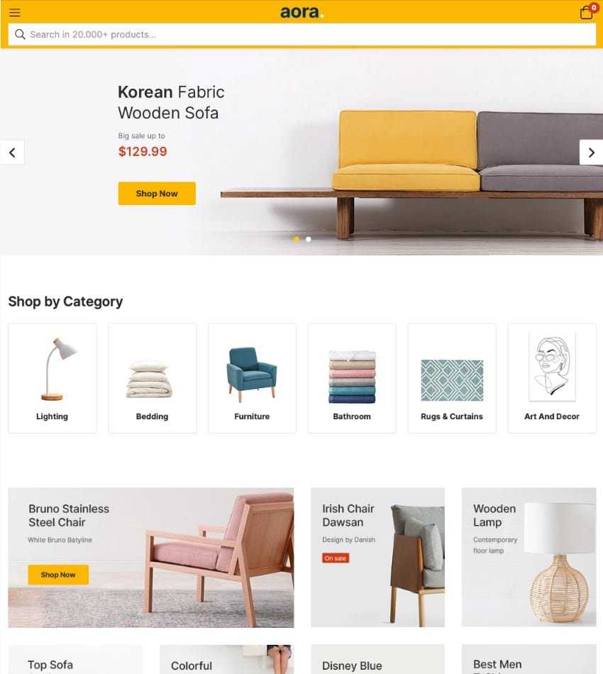 Aora—Home and Lifestyle Elementor WooCommerce Theme