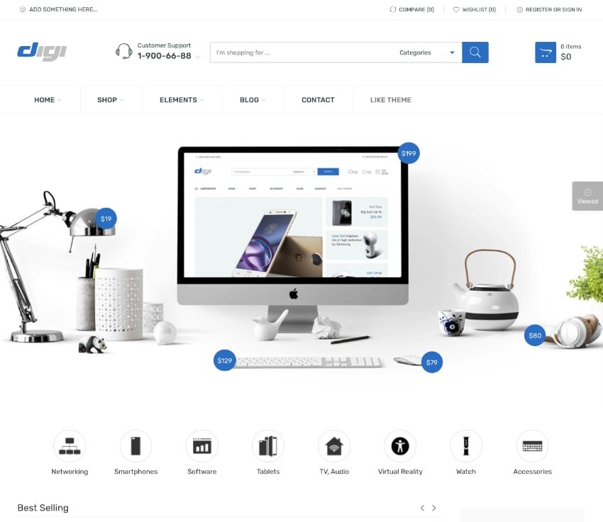 Digi—Electronics Store WooCommerce Theme