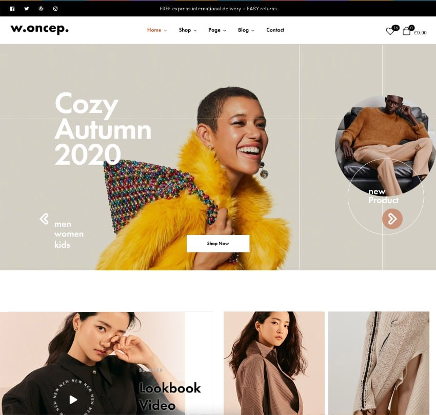 Woncep—Fashion WooCommerce WordPress Theme