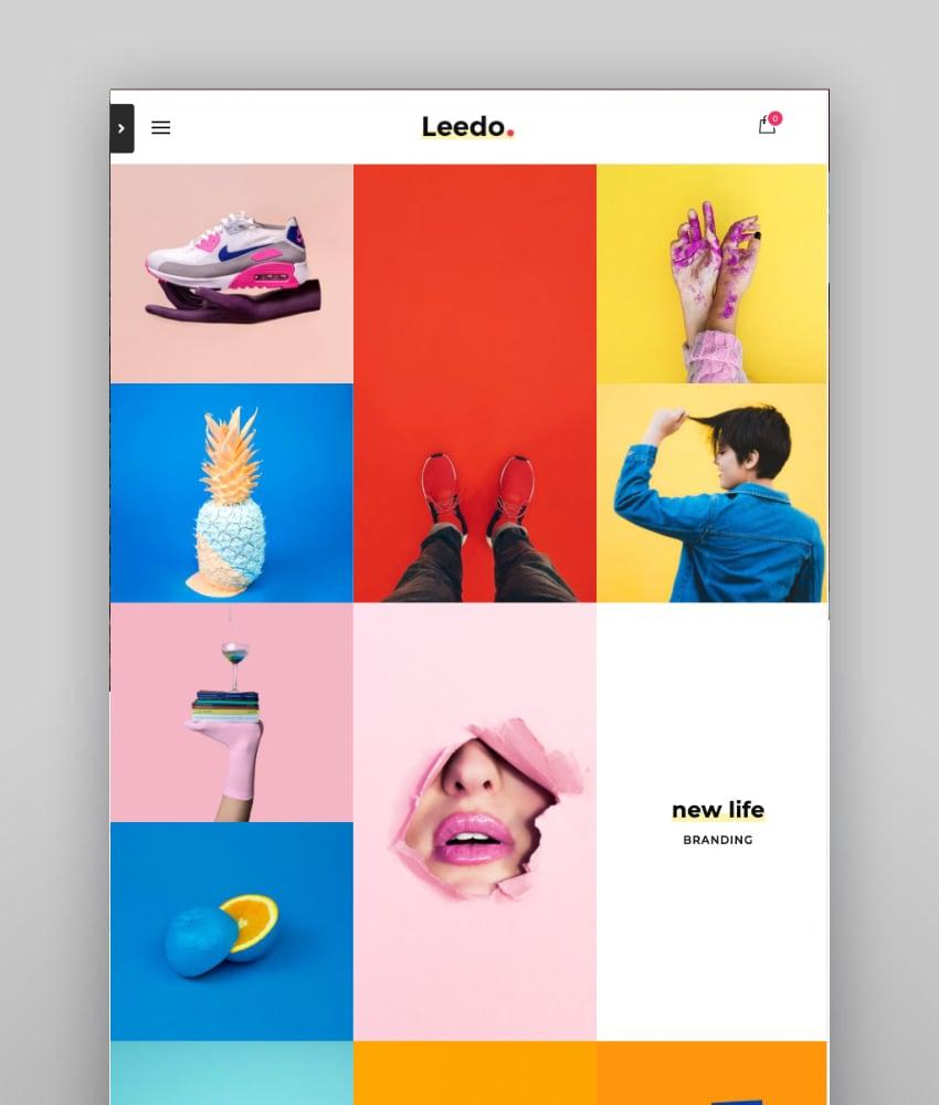 Leedo—Modern, Colorful and Creative Portfolio WordPress Theme