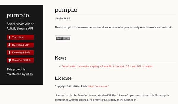 Pumpio home page