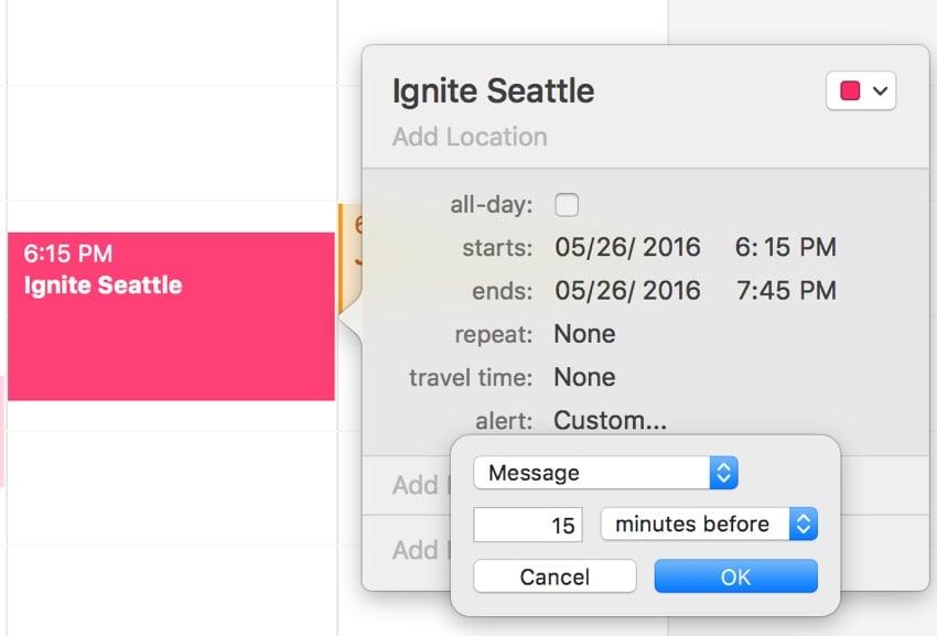 Meeting Planner Reminders - Apple Calendar Reminder Alerts
