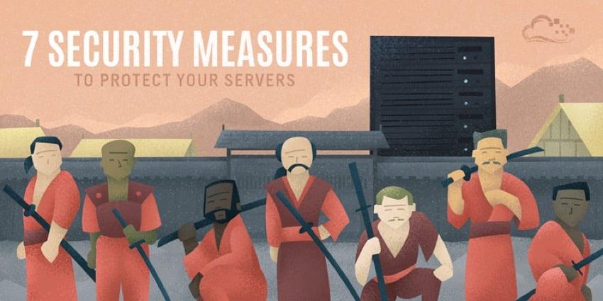 Startup Series - 7 Security Measures via Digital Ocean - graphic of Hun-like invaders