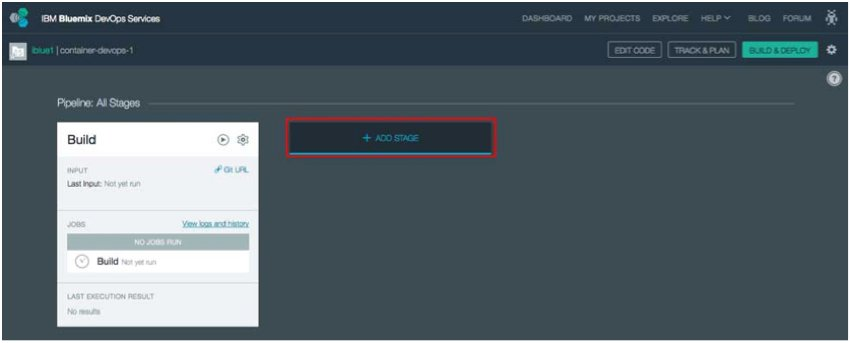 IBM BlueMix and DevOps - Add a Stage