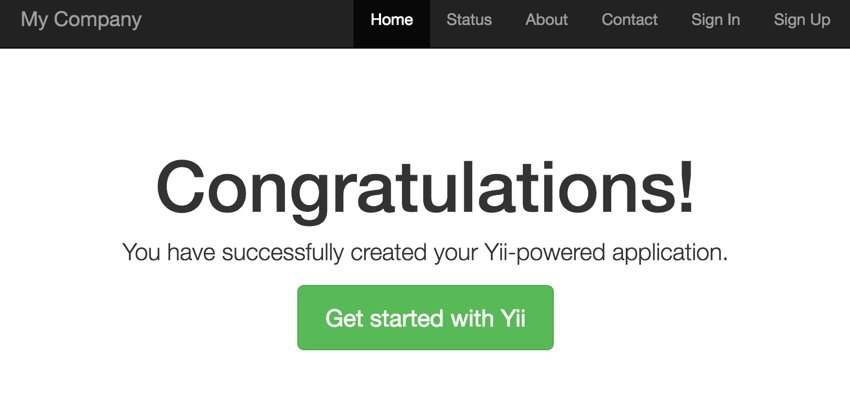 Programming with Yii - The Hello Home Page