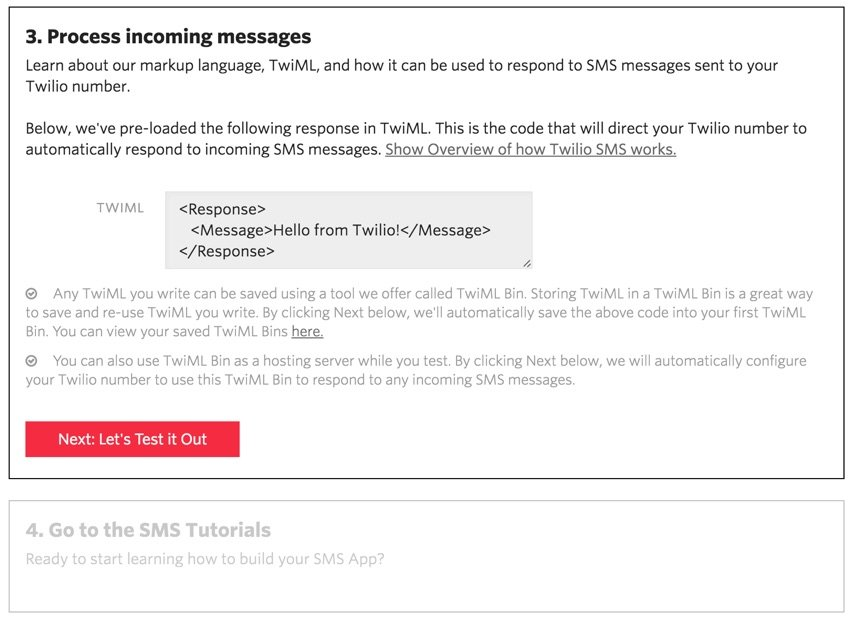Building Startups Text and SMS - Twilio Incoming Messages
