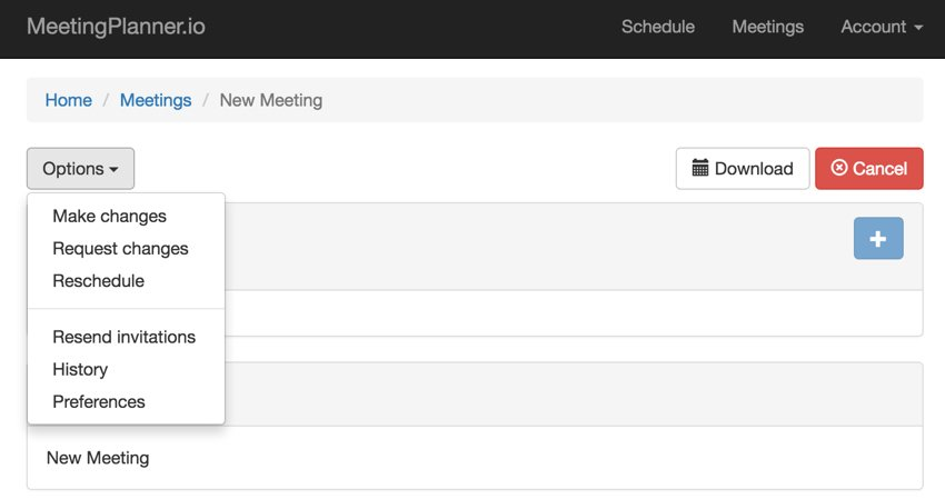 Build Your Startup Advanced Scheduling - Command bar with fully loaded Dropdown menu