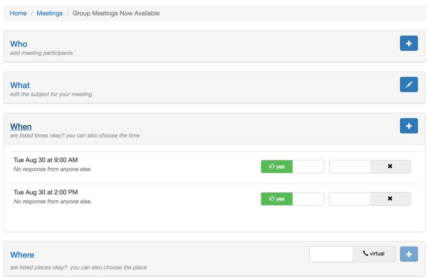 Meeting Planner Startup Series - Open and Closed Panels with Bootstrap Accordion Feature