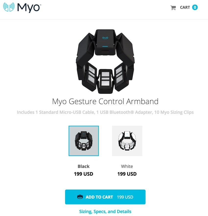 IBM Bluemix IoT Arm Gestures - Myo Gesture Control Armband