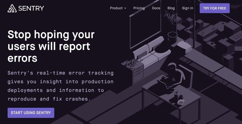Building Startups Logging - Sentry Home Page