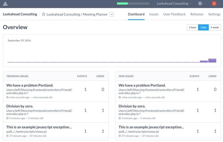 Building Startups Logging - The Sentry Dashboard
