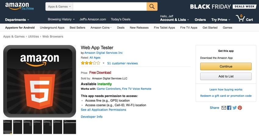 Amazon Appstore - Amazon App Tester