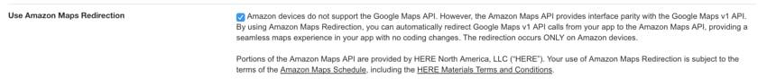 Amazon Appstore - Amazon Maps Redirection