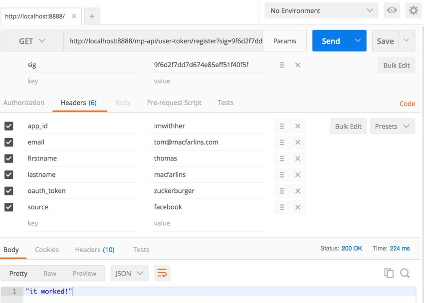 Building Your Startup Securing API - Testing the API sending data in the headers