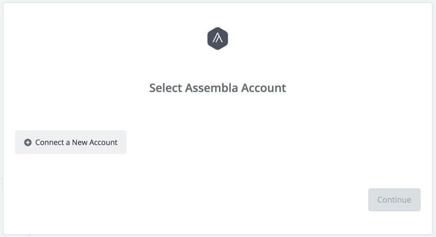 Assembla Zapier Automated Workflow - Connect Assembla Account
