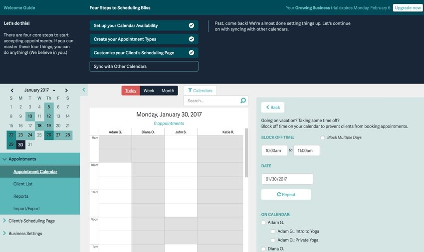 Acuity Scheduling Developers - Multiple people and team calendar scheduling