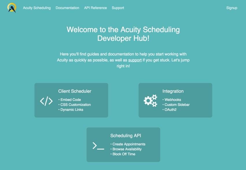 Acuity Scheduling Developer Platform - The Developer Scheduling Hub