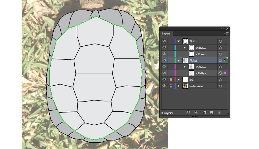 Creating a base underneath the plates
