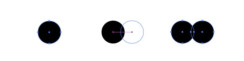 Create two overlapping circles
