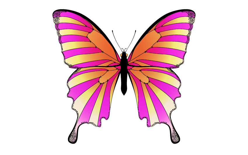 Circus Tent Butterfly