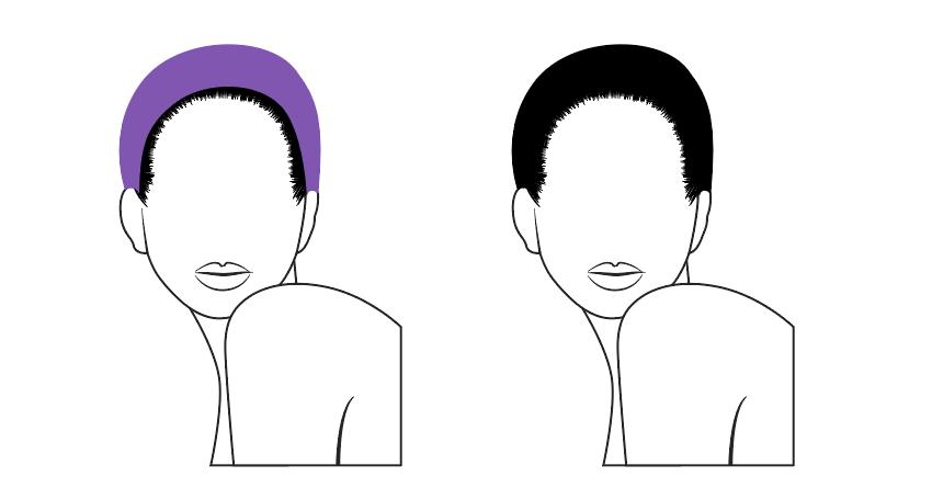 Create a mass of hair
